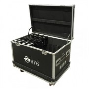 American DJ AV6FC 8pcs Flight Case