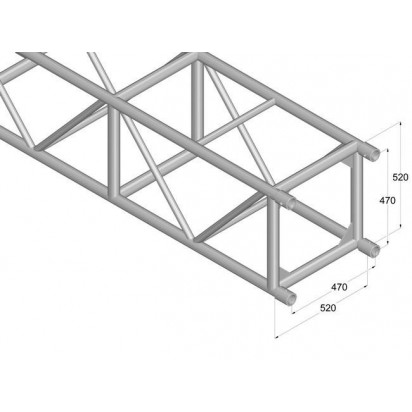 Pro-truss  Pro 524 L4000 Straight 4000 mm