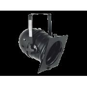 DTS-PAR 64 CLASSIC SHORT BLACK SCHUKO zwart, met stekker, kort model