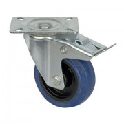 DAP Blue wheel swivel & brake 100mm