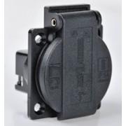 ABL schuko 50x62mm RA+KD zwart