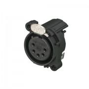 Neutrik 5P Female XLR horizontal PCB mount