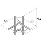 Pro-truss Pro 22  T-piece C 440 H 4-way horizontal corner