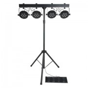 Showtec Compact power lightset Incl. bag, footswitch & stand