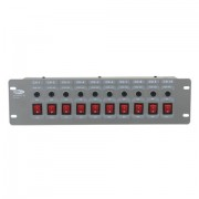 Showtec DJSwitch 10 10Way Switchpanel Output 10x Schuko