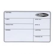 DAP Flightcase Label SHOWTEC magnetic with 3M tape + marker