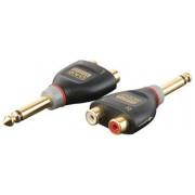 2p Jack male/ 2x RCA F adapterresistor= 10kOhm