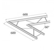 Pro-truss Pro 22 Corner C 200 H 2-way horizontal 60°